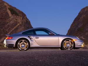 2007 Porsche 911 Turbo Silver Side Hills