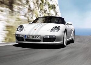 2008 Carrara White Porsche Boxster (987) S Design Edition 2  Front angle view