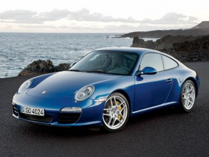 2009 Porsche 911 (997) Carrera S-blue-front-view