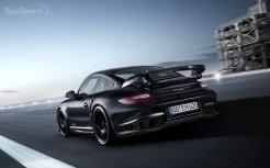 2011 black Porsche 911 GT2 RS wallpaper Rear angle view