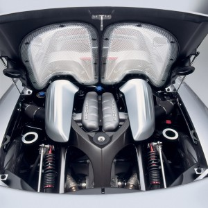 Porsche Carrera GT Rear view Engine