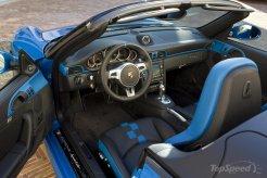 2010 blue Porsche 911 Speedster Interior