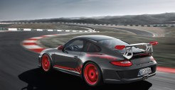 2010 Grey Black Guards Red Porsche 911 GT3 RS wallpaper Side angle view