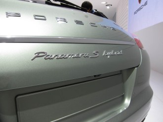 2011 Geneva Motor Show Porsche Panamera Hybrid Rear view