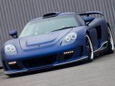 2011 Porsche Carerra GT Gemballa Mirage GT Matte Blue 1024x768 Front angle view