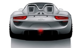 2011 Porsche 918 Spyder Hybrid Rear view