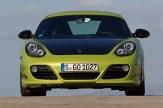Peridot Metallic 2011 Porsche Cayman R Front view