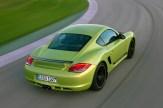 Peridot Metallic 2011 Porsche Cayman R Rear angle top view