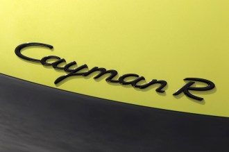 Peridot Metallic 2011 Porsche Cayman R Sign