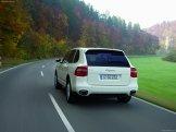 White Porsche Cayenne Diesel 2008 1600x1200 wallpaper Rear angle view