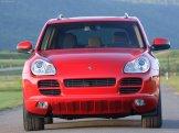 Red Porsche Cayenne S Titanium 2006 1600x1200 wallpaper Front view