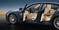 Aqua Blue Metallic Porsche Panamera 4S 2011 wallpaper Side view
