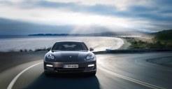 Carbon Grey Metallic Porsche Panamera S 2011 wallpaper Front view
