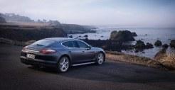 Carbon Grey Metallic Porsche Panamera S 2011 wallpaper Rear angle view