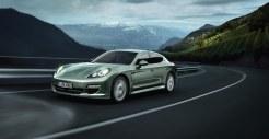 Cristal Green Metallic Porsche Panamera S Hybrid 2011 wallpaper Side angle view