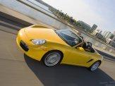 2008 yellow Porsche Boxster wallpaper Side angle view