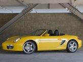 2008 Yellow Porsche Boxster wallpaper Side view