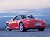 2008 Red Porsche Boxster wallpaper Rear angle side view