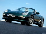 2009 Porsche Racing Green Metallic Boxster wallpaper Front angle view