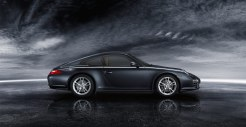 2011 Black Porsche 911 Carrera 4 Wallpaper Side view