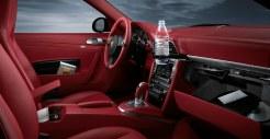 2011 Black Porsche 911 Carrera 4 Wallpaper Red interior