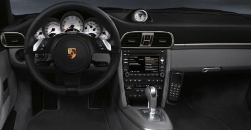 2011 Black Porsche 911 Targa 4S Wallpaper Interior