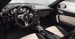 2011 Black Porsche 911 Turbo S Cabriolet Wallpaper Interior