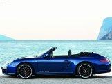 2011 Blue Porsche 911 Carrera GTS Wallpaper Side view