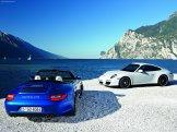 2011 Blue Porsche 911 Carrera GTS Wallpaper Rear view