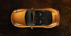 2011 Gold Porsche 911 Carrera 4 Cabriolet Wallpaper Top view