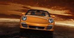 2011 Gold Porsche 911 Carrera 4 Cabriolet Wallpaper Front view