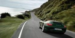 2011 Green Porsche 911 Carrera S Cabriolet Wallpaper Rear angle view