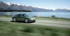 2011 Green Porsche 911 Targa 4 Wallpaper Front angle side view