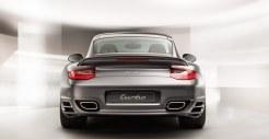 2011 Grey Porsche 911 Turbo Wallpaper Rear view