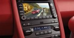 2011 Grey Porsche 911 Turbo Wallpaper Red interior LCD screen