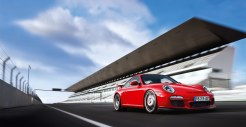 2011 Red Porsche 911 GT3 Wallpaper Side angle view