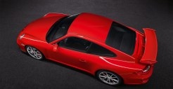 2011 Red Porsche 911 GT3 Wallpaper Side top view