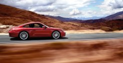 2011 Red Porsche 911 carrera 4S Wallpaper Side view