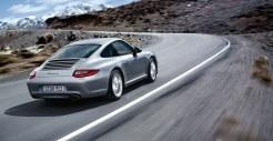 2011 Silver Porsche 911 Carrera Wallpaper Side angle view