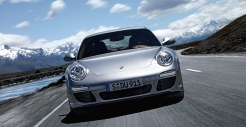 2011 Silver Porsche 911 Carrera Wallpaper Front view