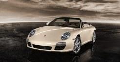 2011 White Porsche 911 Carrera Cabriolet Wallpaper Front angle view