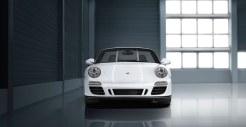 2011 White Porsche 911 Carrera GTS Cabriolet Wallpaper Front view