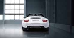 2011 White Porsche 911 Carrera GTS Cabriolet Wallpaper Rear view