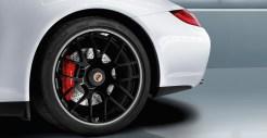 2011 White Porsche 911 Carrera GTS Cabriolet Wallpaper Side view Wheel