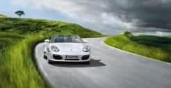 2011 Carrara White Porsche Boxster Spyder wallpaper Front view