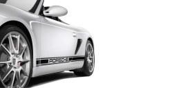 2011 Carrara White Porsche Boxster Spyder wallpaper Side view
