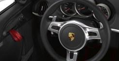 2011 Carrara White Porsche Boxster Spyder wallpaper Interior Steering vheel