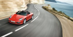 2011 Guards Red Porsche Boxster S wallpaper Front angle top view