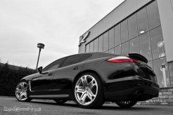 2011 Black Porsche Panamera RS600 Project Kahn Rear angle view