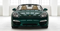 2011 Porsche Racing Green Metallic Boxster Front view